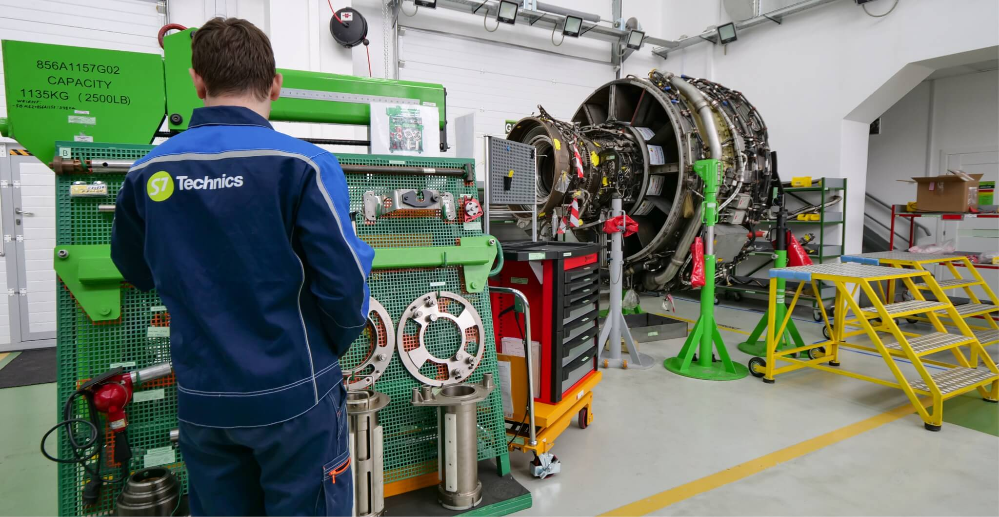 S7 Technics Approved For Complete Disassembly And Reassembly Of Aircraft Engine Wiring Repair Shop At Domodedovo Airport Has Expanded Its Capabilities In Cfm56 5b 7b Mro The Shops Technical Engineering Staff