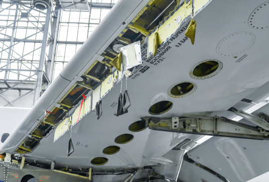S7 Technics' specialists perform a complex set of B737NG tank inspections