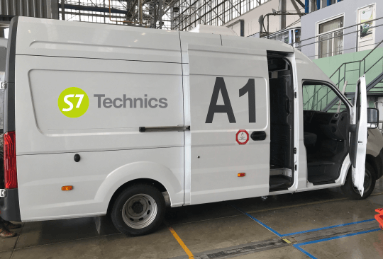 S7 Technics' KitCar 'mobile warehouse' saved 4,000 man-hours