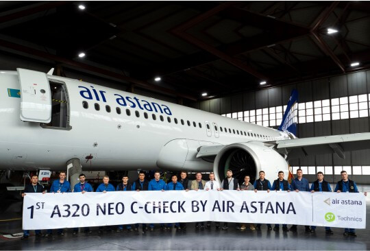 S7 Technics assists Air Astana with first in-house C-Check